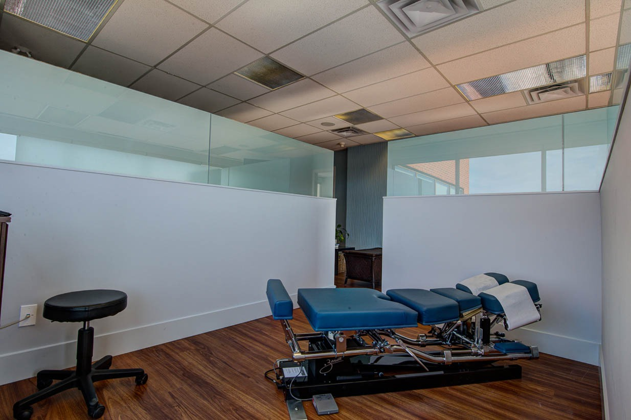 Mount Royal Village Family Chiropractic | Adjsutment Room
