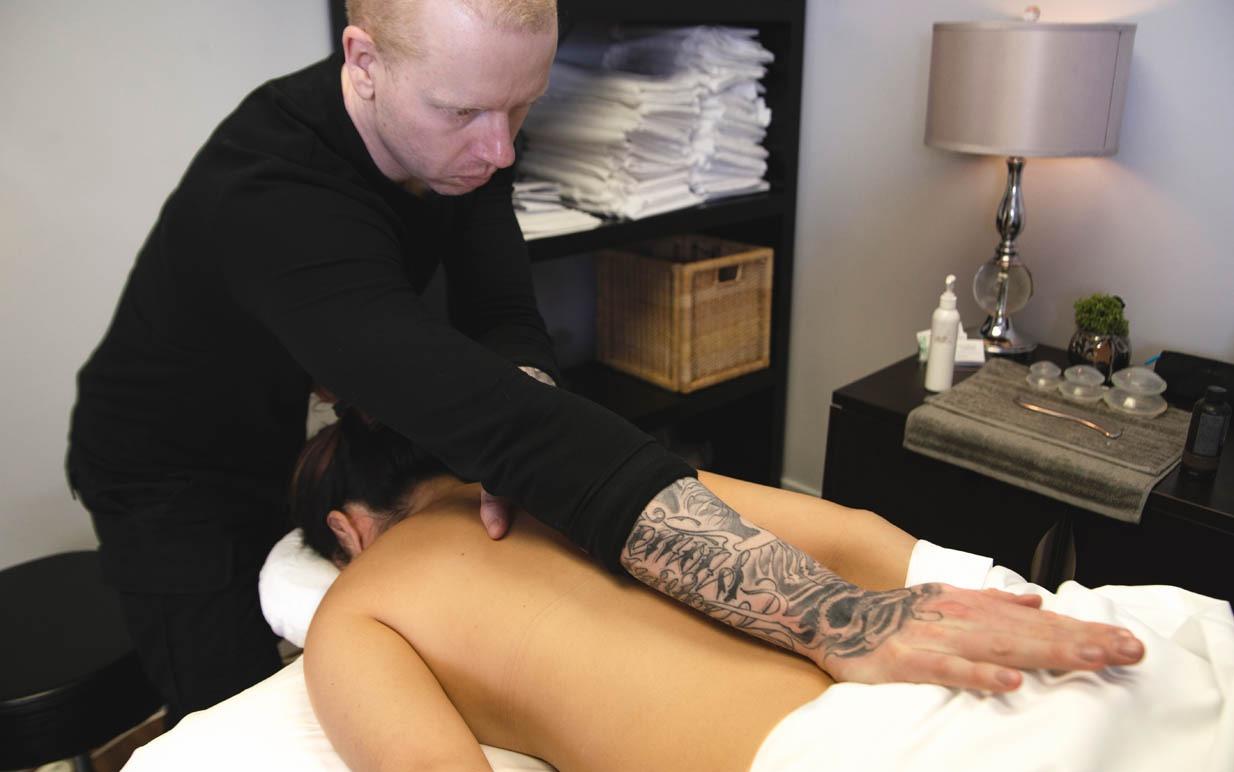 Massaging Patient